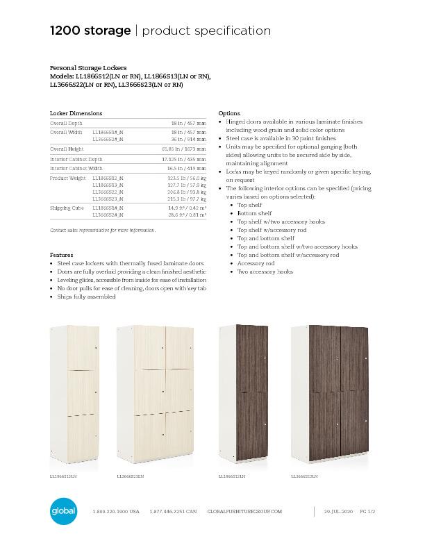 Personal Lockers Brochure Cover